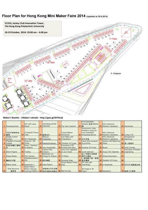 Floor Plan with maker List 2014